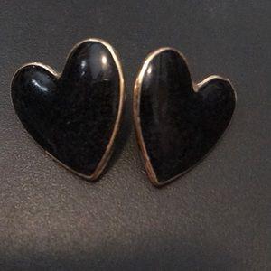 Sugarfix by Baublebar Black Heart Earrings